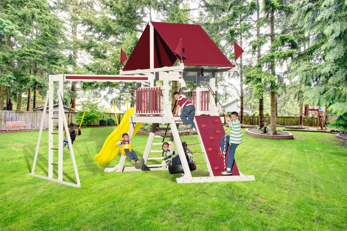 Amish Swing Sets And Play Sets Pittsburgh Swing Sets And Amish Lawn Furniture Kauffman Family Marketplace