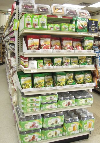 Our fully stocked shelves include canning supplies like jars, lids, and preservatives.