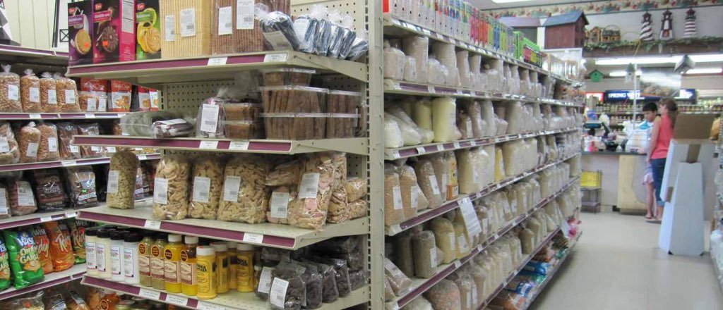 Shelves of Bulk Foods